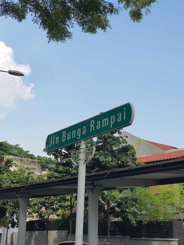 Jalan Bunga Rampai Street Signage